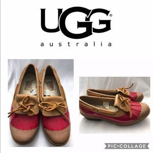 Ugg Ashdale Size 8.5 Slip On Duck Shoes Red/Brown